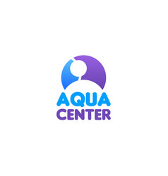 Aqua center sign vector
