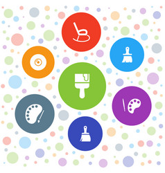 Artistic icons vector
