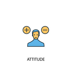 Attitude concept 2 colored icon simple blue vector