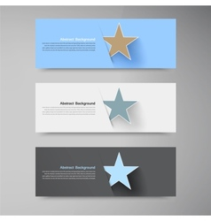banner background White star vector image