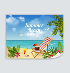 beach relaxation leaflet poster vector image