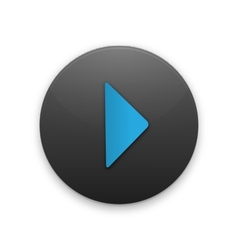 Black Button with the play icon vector image