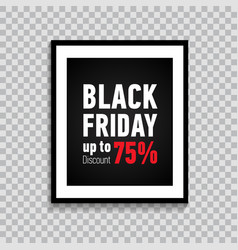 black friday sale poster retail banner vector image
