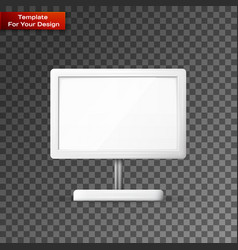blank outdoor billboard with place for message vector image