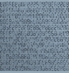blue alien incomprehensible computer code vector image
