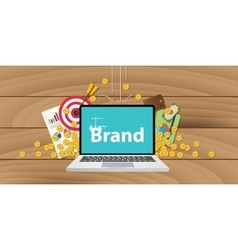 Brand development or building with money goals vector