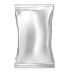 Candy pack mock up foil pouch plastic sachet wrap vector
