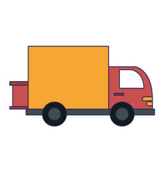 cargo vehicle and warehouse vector image