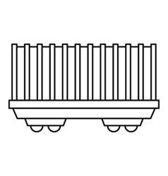 Cargo wagon icon outline style vector