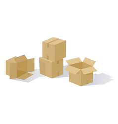 cartoon boxes vector image
