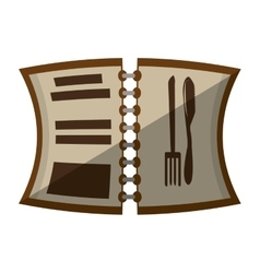 Cartoon open menu restaurant with shadow vector