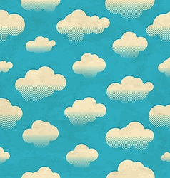 Clouds in the sky Seamless pattern vector image