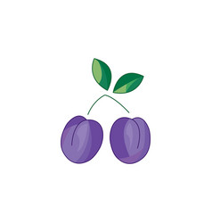 color plum icon on a white vector image