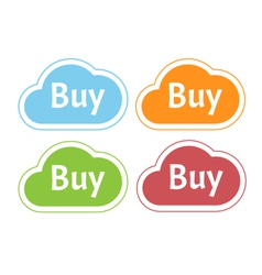 Colors clouds with buy word vector image