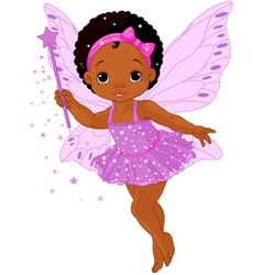 Cute little baby fairy vector image