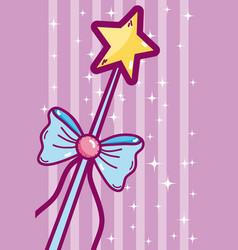 cute wand cartoon vector image