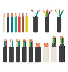 Electrical cables set with varieties electric vector