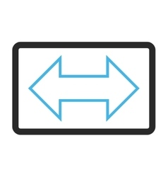 Exchange Horizontal Framed Icon vector