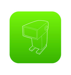 External flash camera icon green vector