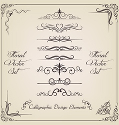 Filigree set vector image