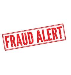 Fraud Alert red rubber stamp on white vector