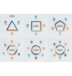 Geometric shapes for infographic vector