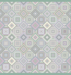 geometrical diagonal square mosaic tile pattern vector image