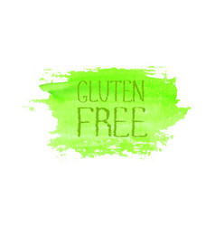Gluten free food concept logo design template vector