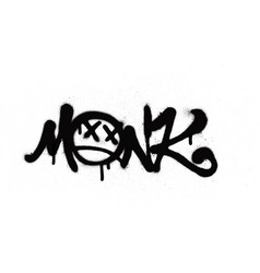 graffiti tag sprayed with leak in black on white vector image
