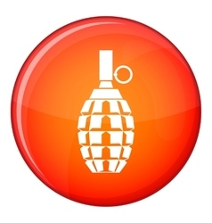 Grenade icon flat style vector