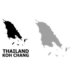 Halftone pattern and solid map koh chang vector