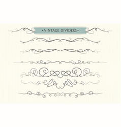 hand drawn lovely flourishes dividers graphic vector image