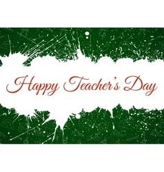 Happy Teacher s Day over ink blots vector image