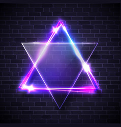 hebrew biblical judaism symbol jewish david star vector image