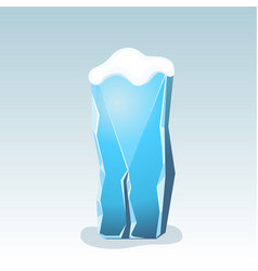 Ice letter i vector