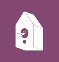 Icon bird house vector