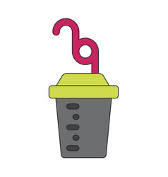 Icon in flat design fitness cocktail vector