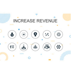 Increase revenue trendy infographic template thin vector