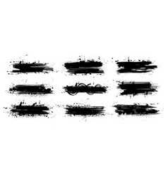 ink paintbrush template with splashes vector image