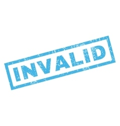 Invalid Rubber Stamp vector