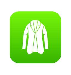 jacket icon digital green vector image