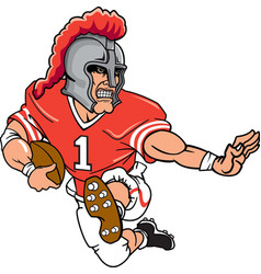 knight sports logo mascot football vector image