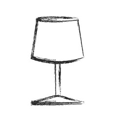 Lamp furniture light electric sketch vector