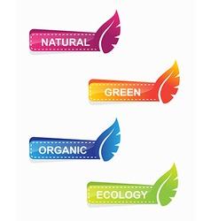 leaf shape web banners vector image
