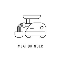 meat drinder kitchen appliances icon vector image