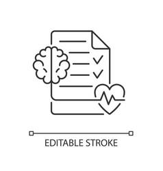 Mental health awareness linear icon vector