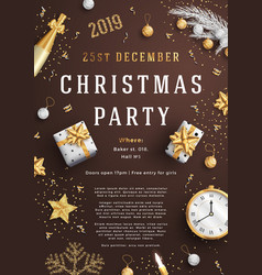 Merry christmas party layout poster poster or vector