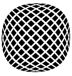 Mesh of squares with distortion effect simple vector