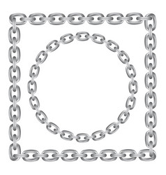 metal chain round and square borders vector image
