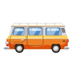 Mini bus icon cartoon style vector